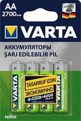 Заряжаемые Аккумуляторные Батарейки VARTA (AA) 2700 mAh (блистер)