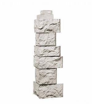 Угол Наружный Жемчужный 485х143х143 мм Дикий камень FINEBER