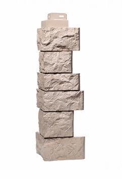 Угол Наружный Песочный 485х143х143 мм Дикий камень FINEBER