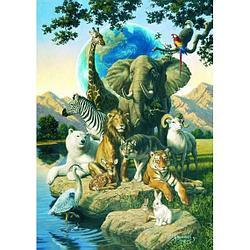 Dino puzzle Пазл из 1500 деталей. Планета зверей