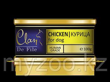 CLAN De File влажный корм для собак всех пород Филе мяса, Курица 100 гр