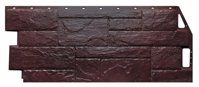 Фасадные панели Коричневый 1087x446 мм Камень природный FINEBER