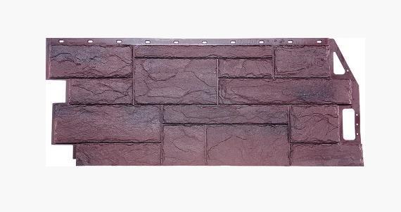 Фасадные панели Серо-коричневый 1087x446 мм Камень природный FINEBER