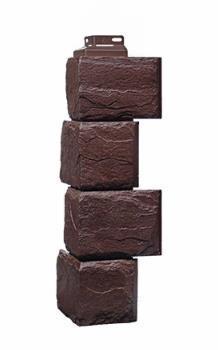 Угол Наружный Коричневый 455х137х137 мм Камень природный FINEBER