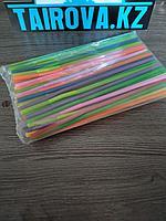 Трубочки цветные с гофрой d0,6x24,5 см 100шт./уп Ps