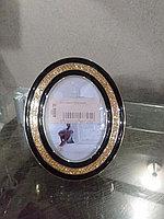 Фоторамка (круг) с камнями(стразы) золото