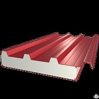 Сэндвич-панель кровельная с наполнителем из пенополистирола 100*1000