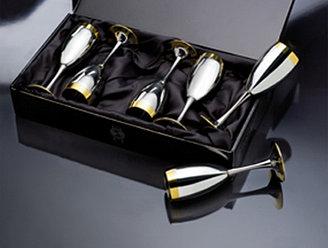Сет для шампанского Ла Перле с частичной позолотой