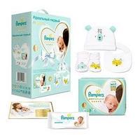 Pampers Подарочный набор Pampers, Premium Care 1 для новорожденных , 2-5 кг.