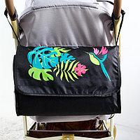 """Сумка-органайзер для коляски и санок """"Тропики"""", цвет чёрный"""
