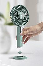 Портативный аккумуляторный ручной вентилятор Hand held Fan, фото 2