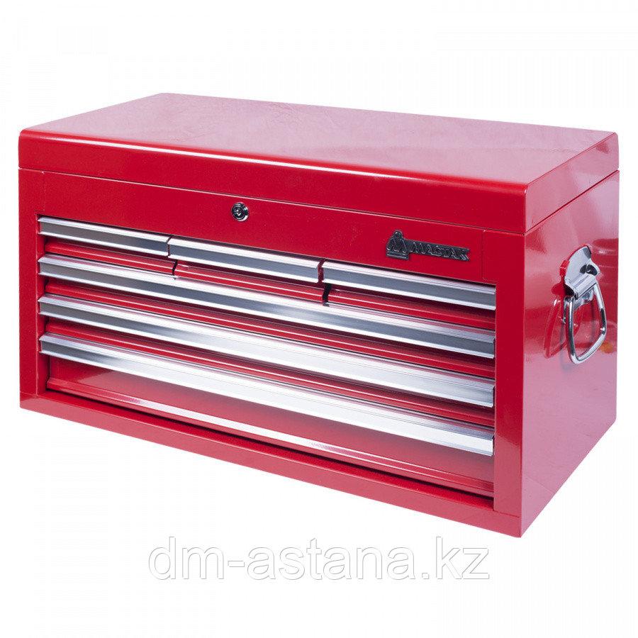 МАСТАК Ящик инструментальный, 6 полок, красный МАСТАК 511-06570R