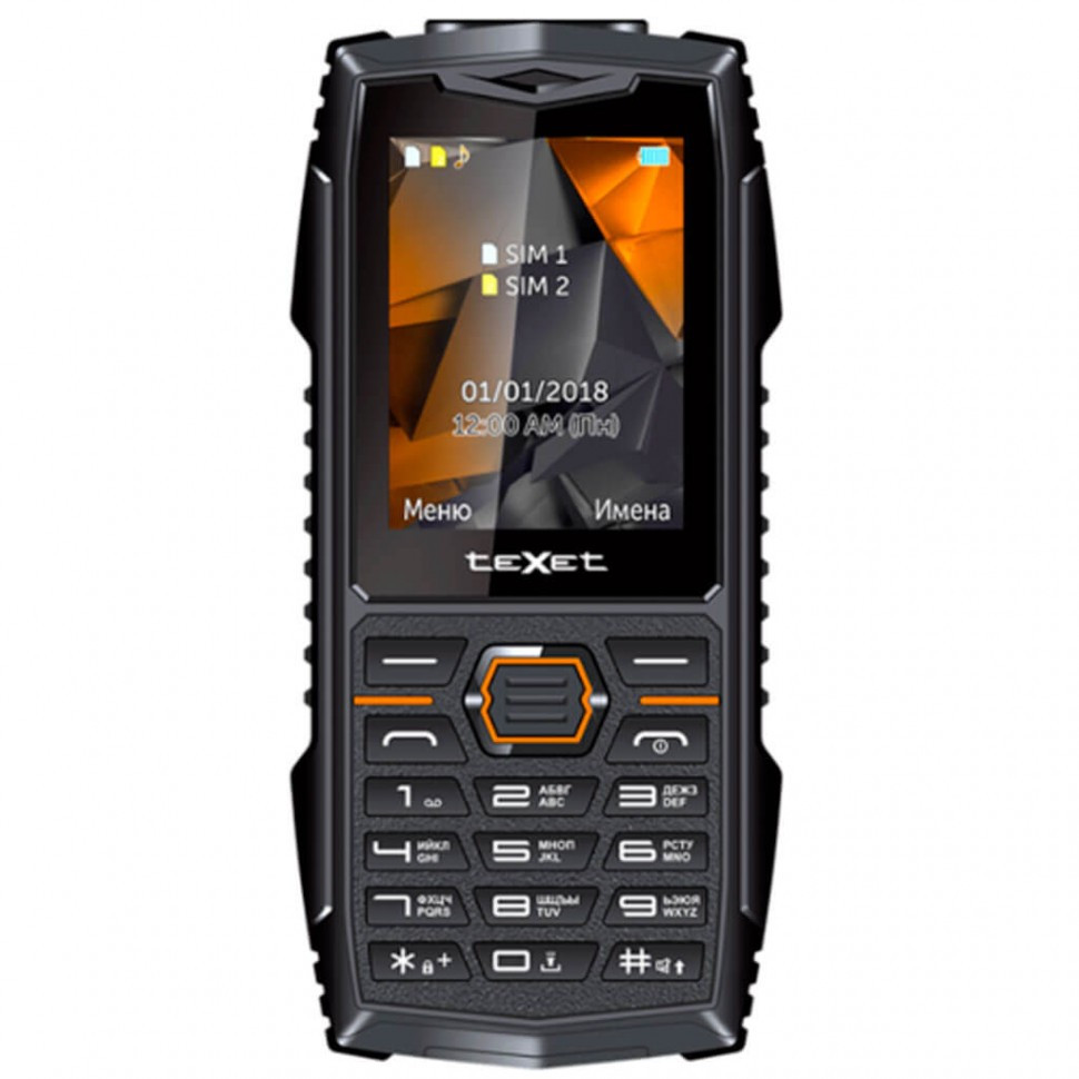 Мобильный телефон Texet TM-519R черный