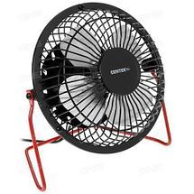 Вентилятор настольный металлический CENTEK Air Black&RED {защитная решетка, USB} (Черный), фото 3