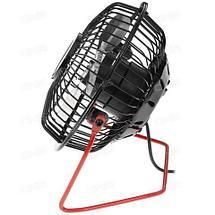 Вентилятор настольный металлический CENTEK Air Black&RED {защитная решетка, USB} (Черный), фото 2