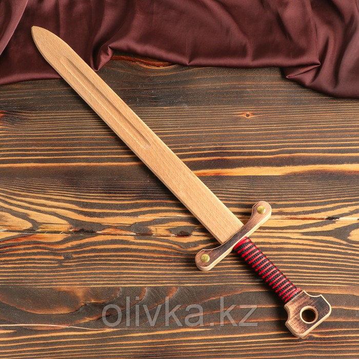 """Сувенирное деревянное оружие """"Меч двуручный"""", 52 см, массив бука, микс"""