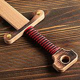 """Сувенирное деревянное оружие """"Меч двуручный"""", 52 см, массив бука, микс, фото 2"""
