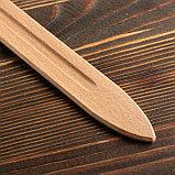 """Сувенирное деревянное оружие """"Меч двуручный"""", 52 см, массив бука, микс, фото 3"""