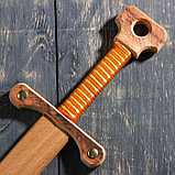 """Сувенирное деревянное оружие """"Меч двуручный"""", 52 см, массив бука, микс, фото 4"""