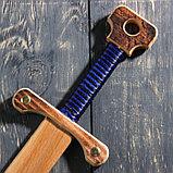 """Сувенир деревянный """"Меч двуручный"""", 52 см, массив бука, микс, фото 6"""