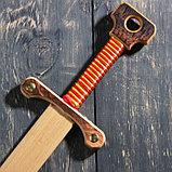 """Сувенирное деревянное оружие """"Меч двуручный"""", 52 см, массив бука, микс, фото 7"""