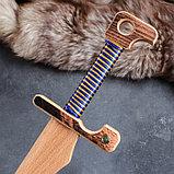 """Сувенирное деревянное оружие """"Меч персидский"""", массив бука, 65 см, микс, фото 3"""