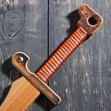 """Сувенирное деревянное оружие """"Меч персидский"""", массив бука, 65 см, микс, фото 4"""