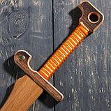 """Сувенирное деревянное оружие """"Меч персидский"""", массив бука, 65 см, микс, фото 5"""