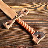 """Сувенирное деревянное оружие """"Меч двуручный"""", массив бука, 75 см, микс, фото 2"""