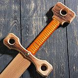 """Сувенирное деревянное оружие """"Меч двуручный"""", массив бука, 75 см, микс, фото 4"""