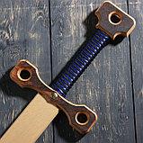 """Сувенирное деревянное оружие """"Меч двуручный"""", массив бука, 75 см, микс, фото 7"""