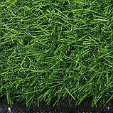 Газон искусственный, ландшафтный, ворс 30 мм, 2 × 4 м, зелёный двухцветный, фото 3