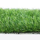 Газон искусственный, ландшафтный, ворс 30 мм, 2 × 4 м, зелёный двухцветный, фото 4