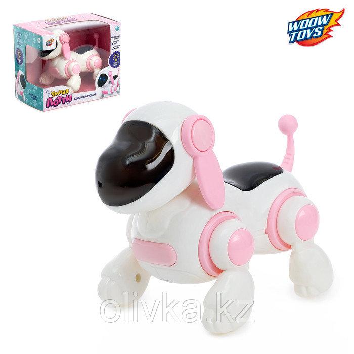 Робот-Собака «Умная Лотти», ходит, работает от батареек, цвет розовый
