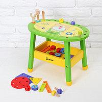 Игровой стол с набором инструментов и деталей