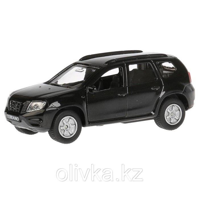 Машина Nissan Terrano, 12 см, открывающиеся двери и багажник, инерционная, цвет чёрный, металлическая