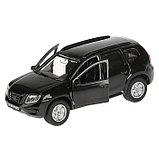 Машина Nissan Terrano, 12 см, открывающиеся двери и багажник, инерционная, цвет чёрный, металлическая, фото 2