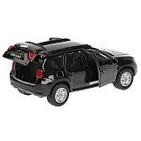 Машина Nissan Terrano, 12 см, открывающиеся двери и багажник, инерционная, цвет чёрный, металлическая, фото 3