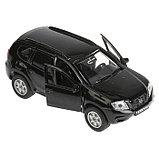 Машина Nissan Terrano, 12 см, открывающиеся двери и багажник, инерционная, цвет чёрный, металлическая, фото 4