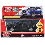 Машина Nissan Terrano, 12 см, открывающиеся двери и багажник, инерционная, цвет чёрный, металлическая, фото 5