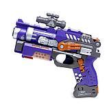 Робот-трансформер «Бластер», трансформируется в робота, стреляет мягкими пулями, цвет фиолетовый, фото 6