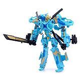 Робот-трансформер «Военный», цвет синий, фото 2