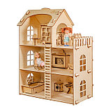 Домик из берёзовой фанеры «Забава» без мебели, фото 3