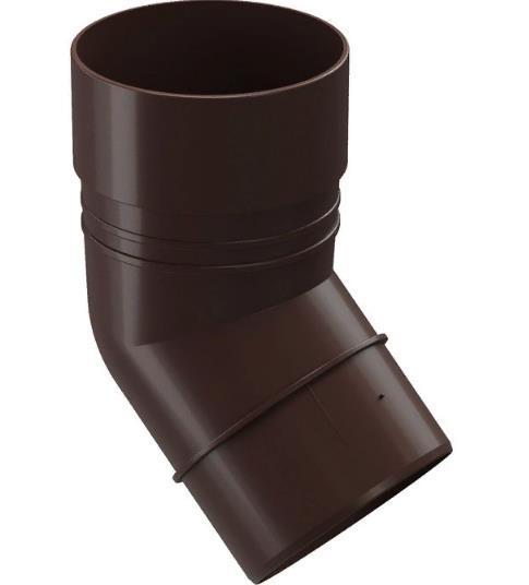 Колено водосточной системы 45/85  Дёке(Docke) Коричневый