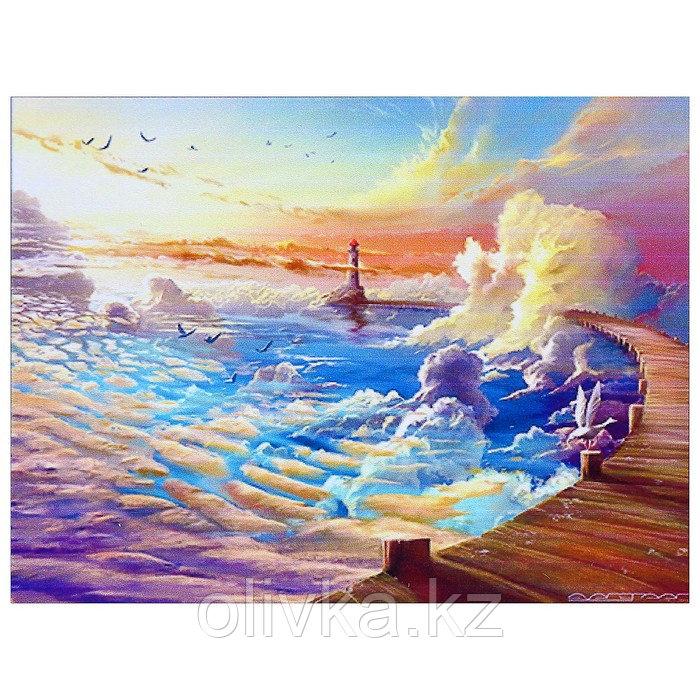 """Алмазная мозаика """"Облачный маяк"""" 40 × 30 см, 35 цветов"""