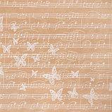 Бумага крафт в рулоне «Нотный стан», 0,7 × 8 м, фото 2