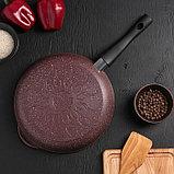 Сковородка «Шоколад», 26×5,5 см, с съёмной ручкой и стеклянной крышкой, фото 5