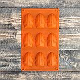 Форма для выпечки «Ракушка», 29,5×17 см, 9 ячеек (6,7×4,5×1,3 см), цвет МИКС, фото 3