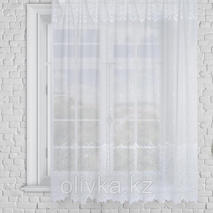 Штора М492б на шторной ленте 245х165 см, белый, пэ 100%