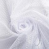 Штора М492б на шторной ленте 245х165 см, белый, пэ 100%, фото 4